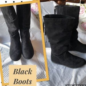 Girls Black Boots size 4